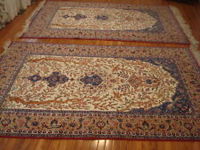 A PAIR OF AUTHENTIC SEIRAFIAN PERSIAN HANDMADE RUGS 8' x 5'