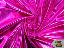 "Spandex Metallic HOT PINK Fabric /60""/ Sold by The Yard"