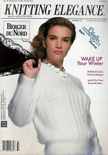 Berger Du Nord Knitting Elegance Magazine w/ 33 Patterns Total - Issue #33