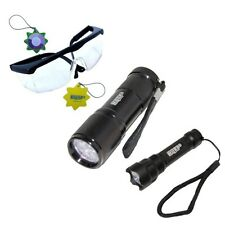 365 nM UV 9 LED Flashlight + Compact Ultra-light Flashlight, forgery detection