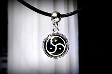 BDSM symbol triskele triskelion collar necklace submissive dominant slave gift