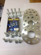 BMW E46 E90 E92 E60 15mm & 20mm wheel spacers Inc Extended Bolts & Locking Bolts