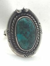 Vintage Sterling Silver Turquoise Southwest Ring Tribal Size 7  7.7g