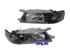 For Nissan Sentra B14 200SX SE-R Headlights w/ Corners 1995-1999 Black LHD JDM