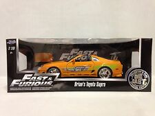 Fast Furious Brain's Toyota Supra ,Special Edition, 1:18 Diecast, Jada Toys, OR