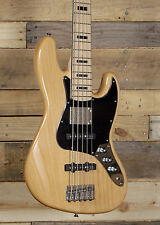 Squier by Fender Vintage Modified 5 String Bass Guitar Natural Finish w/ Gig Bag