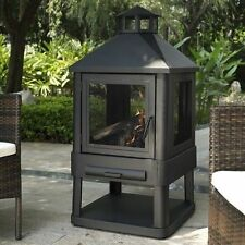 Outdoor Fire Pit Patio Fireplace Wood Heater Backyard Deck Garden Metal Steel