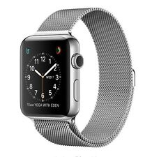 Apple Watch 42mm acero inoxidable caso rojo Sport banda y correa de bucle libre milanés