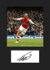 THEO WALCOTT -  Arsenal Signed Photo A5 Mounted Print - FREE DELIVERY