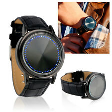 Fashion LED Wristwatch Analog Quartz Watch Bracelet Touch Screen Blue Light