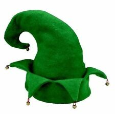 Christmas Elf Hat with bells Holiday Costume Accessory Unisex One Size