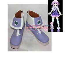 Neptune Purple Heart Sailor Moon Cosplay Lolita Punk Shoes Boots S008