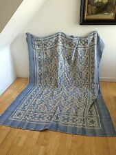 VINTAGE DECO VANTONA BED THROW UNUSED LINEN ANTIQUE BOHEMIAN BOUTIQUE HOME