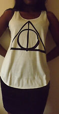 DONI DELLA MORTE Triangolo Maglietta a Harry Potter Mago Tank T shirt donna Ladie