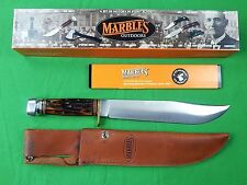 US Marbles Large Bowie Hunting Knife w/ Sheath Box