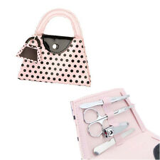 Pink Polka Purse manicure Set Bridal Shower Gift Party Favors wedding gifts 4pcs