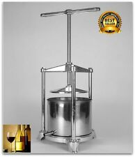 Wine Press Juicer Machine Heavy Duty Stainless APPLE GRAPES Crusher Juice Maker