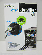 Dotz Home Entertainment Cord Identifier Kit Cord and Cable Management DCI13HEK