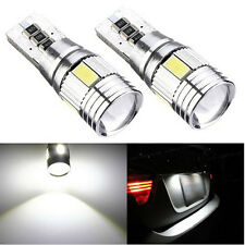 2 x T10 W5W 6 LED Car Side Light, Parker Bulb 6000K XENON White Projector Lens
