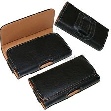 BLACK BELT CLIP LEATHER CASE POUCH FOR iPhone 4 4G 4S 4GS