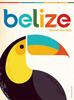 045 Vintage Travel Poster Art Belize *FREE POSTERS