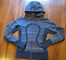 LULULEMON scuba hoodie stretch sides wish blue poncho stripe size 2 thumbholes