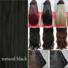 Real Thick Clip In Hair Extensions 1Pcs Full Head Hair Extention Long As Human