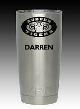 Yeti Rambler 20 oz cup tumbler engraved  Auburn Tigers Custom personalize