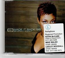 (FM401) Beverley Knight, Made It Back - 1999 DJ CD