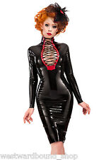 R488  **DESIGNED+MADE IN UK* LATEX DRESS *PS GOLD/BLK* Westward Bound £199 10