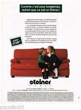 PUBLICITE ADVERTISING 0105  1991  Les sièges fauteuils canapés STEINER