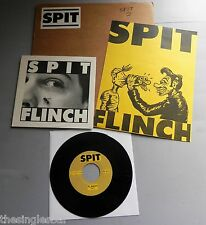 """Spit - Flinch USA 1988 Libido 7"""" Single with Poster & Stickered Card"""