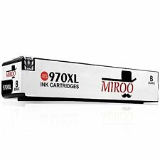 MIROO (1blacK) Replacement for HP 970 971 Ink Cartridge Compatible HP Officejet