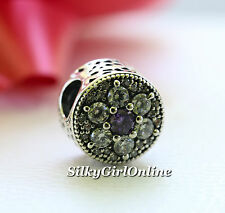 Authentic Pandora Spring Collection Forget Me Not Purple Clear CZ Bead 791832ACZ