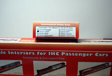 HO TRAIN IHC #20151 SMOOTH OR CORRUGATED COACH PASSENGER CAR INTERIOR. SEALED