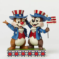 Disney Traditions Jim Shore Patriotic Chip N Dale Americana Figurine