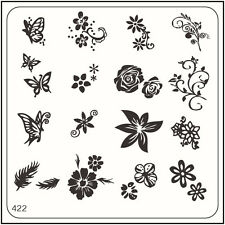MoYou Nail Fashion Square Stamping Image Plate 422 Bridal Style