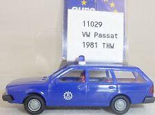 THW VW Passat anno fab. 1981 blu IMU EUROMODELL 11029 H0 1:87 OVP # HO 2 å