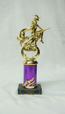 """HALLOWEEN TROPHY, COSTUME PARTY AWARD   WITCH /BROOM 3""""PRCW FREE LETTERING"""