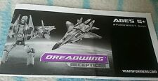 Transformers MOVIE DELUXE DREADWING INSTRUCTION BOOKLET ONLY