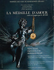 PUBLICITE ADVERTISING 094  1970  AUGIS  la médaille d'AMOUR
