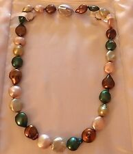 "Baroque 18"" Freshwater Multi Colored Culture Pearls MSRP $690 No Reserve"