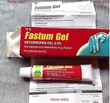 Fastum Gel Ketoprofen 2.5%, 15g MUSCLE & JOINT BACK PAIN RELIEVE GEL