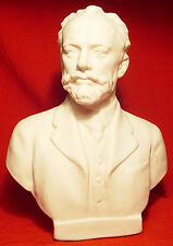 TCHAIKOVSKY COMPOSER Russian Soviet BUST FIGURINE BISCUIT PORCELAIN SYCHEV 1960s