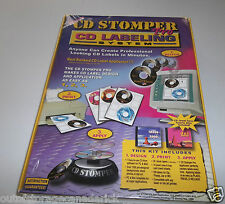 CD STOMPER PRO Disc Labeling System - Software, Labels, Applicator NEW KIT