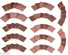 60PCS 15mm*15mm Notebook Graphics Laptop CPU Heatsink Copper Shim Pad Conductor