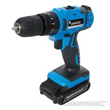 HEAVY DUTY SILVERLINE 18V LITHIUM LI-ON CORDLESS HAMMER DRILL DRIVER SCREWDRIVER