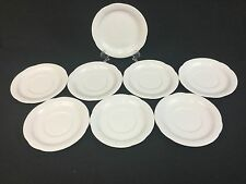 Arzberg Corso SEVEN 6 inch Saucers and ONE 6 1/4 inch Bread Plate White Germany