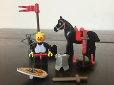 LEGO 6009 Castle Black Knight Vintage 1992 Set w/ Horse & Weapons 100% COMPLETE!