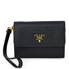 Prada Small Saffiano Leather Wallet - Black
